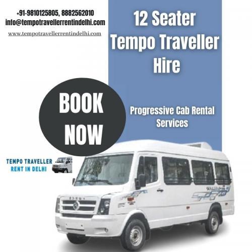 Tempo Traveller 12 Seater Hire in Delhi