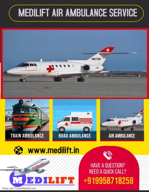 Medilift Air Ambulance Bhopal - Convenient and Cautious Commutation