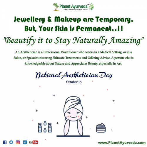 National Aesthetician Day - 15th October