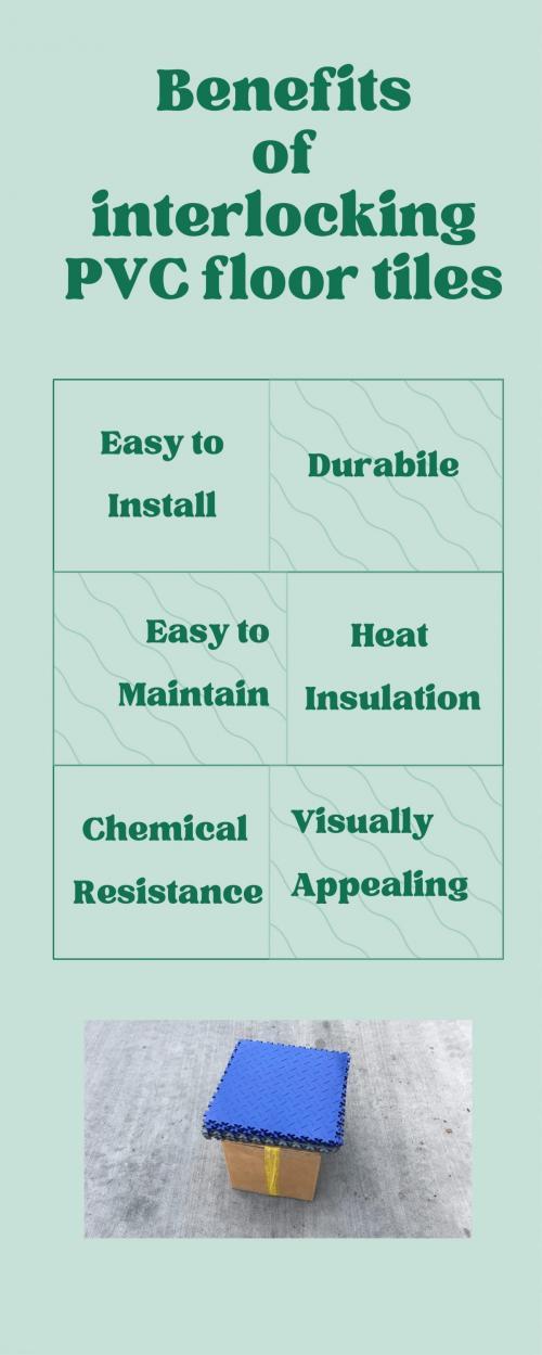 benefits of interlocking PVC floor tiles
