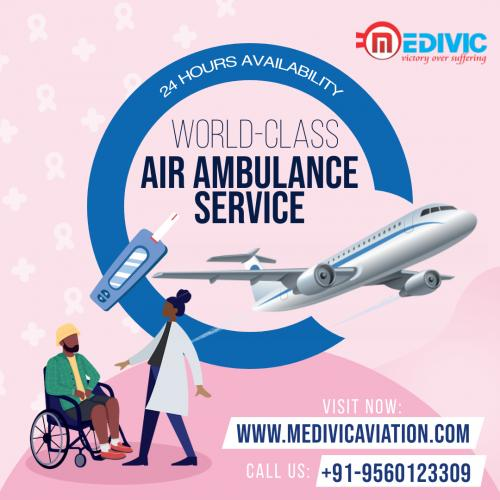 Get Cautiously Transported by Medivic Air Ambulance in Patna & Delhi