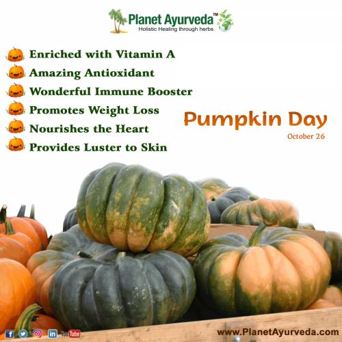 Pumpkin Day (26th October) - Health Benefits