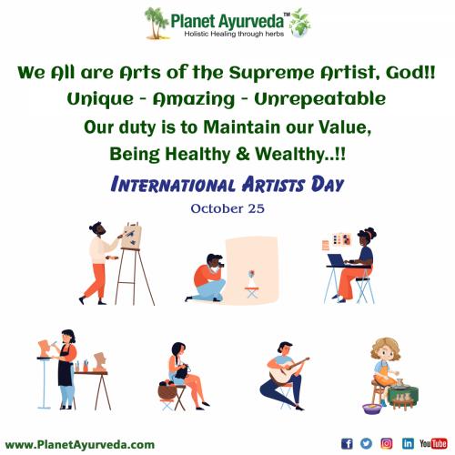 International Artist Day - 25th October