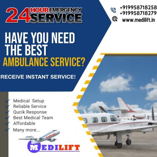 Take Medilift Air Ambulance Service in Patna