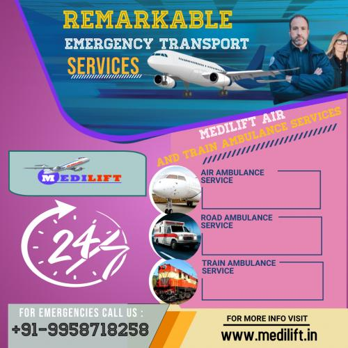 Fly with Medilift Air Ambulance Delhi for Best Care of Patient