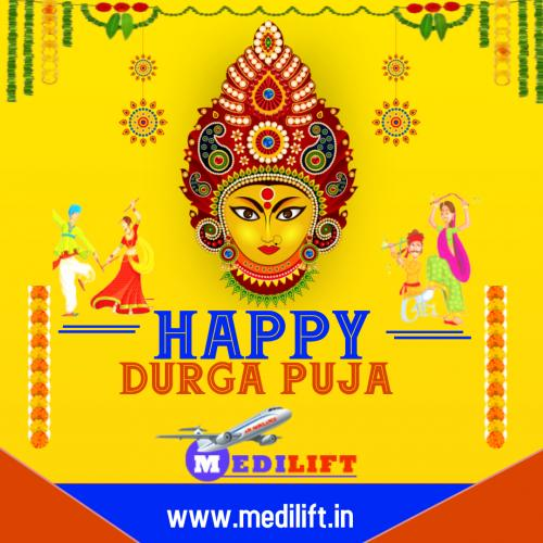 Happy Durga Puja by Medilift Air Ambulance