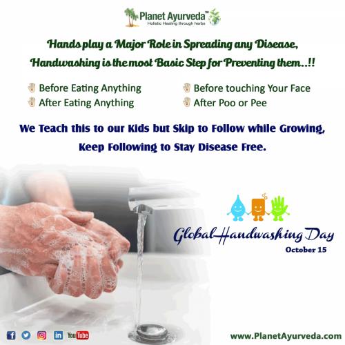 Global Handwashing Day - 15 October