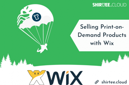 Selling print-on-demand products with Wix