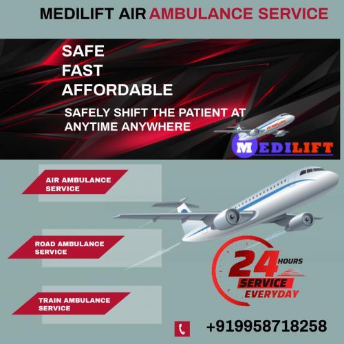 No Means of Commutation as Efficient as Medilift Air Ambulance Delhi