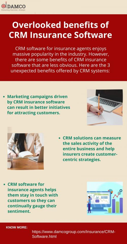 Overlooked benefits of CRM Insurance Software