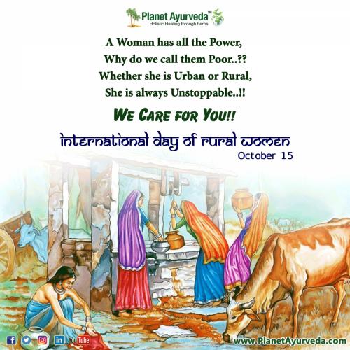 International Day of Rural Women - Raise Awareness