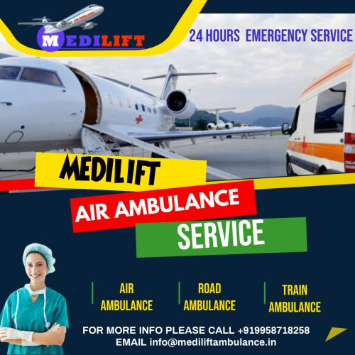 Medilift Air Ambulance Service in Patna: Outfitted with Imperative Medical Equipment