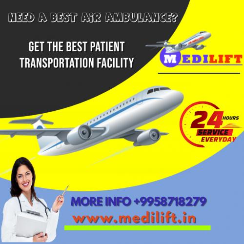 Avail Medilift Air Ambulance in Mumbai for Prompt Commutation