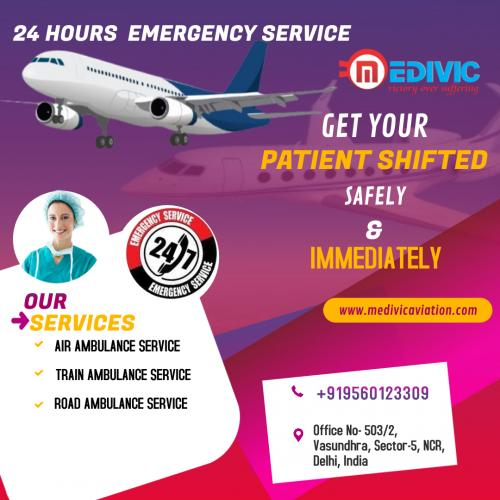 Swift and Safe Relocation Rendered by Medivic Air Ambulance in Patna & Delhi