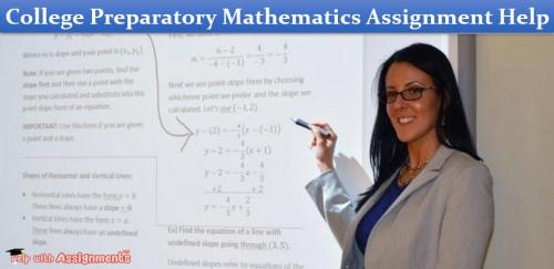 College Preparatory Mathematics Assignment Help